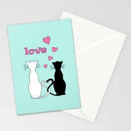 Couple cats with love Stationery Cards