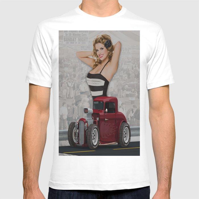 Pin Up Girl & Hot Rod T-shirt