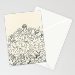 Psychedelic Bunny Mountain Stationery Cards