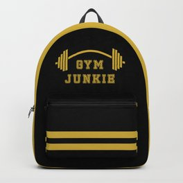 Gym Junkie Duffel Gym Sports Leisure Bag Black Gold Backpack