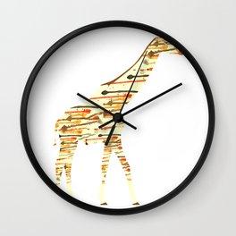 Watercolour Giraffe Wall Clock