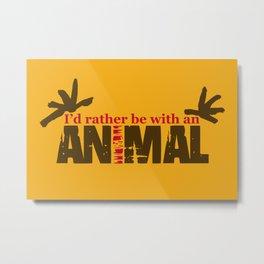 Animal Grunge Jam Metal Print