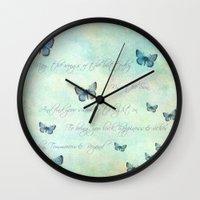 butterflies Wall Clocks featuring Butterflies by secretgardenphotography [Nicola]