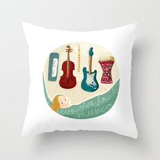 Viva la musica Throw Pillow