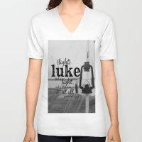 luke hemmings V-neck T-shirts featuring Luke by KimberosePhotography