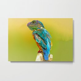 Lizard Perched  Metal Print