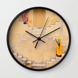 Amber Stepwell II, Rajasthan, India Wall Clock