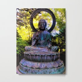 Buddha in the park Metal Print