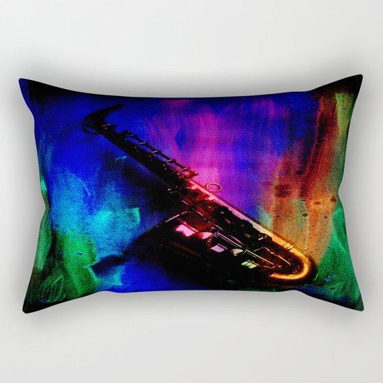 Midnight Sax Rectangular Pillow