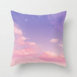 Sky Purple Aesthetic Lofi Throw Pillow