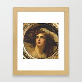 George Romney 1734–1802   Lady Hamilton as Cassandra Framed Art Print