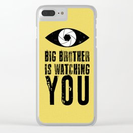 Big Brother is Watching YOU! Clear iPhone Case