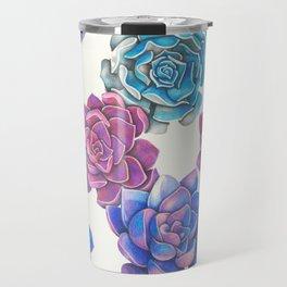 Vibrant Succulents  Travel Mug
