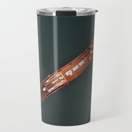 An aerial shot of an old commercial ship Travel Mug