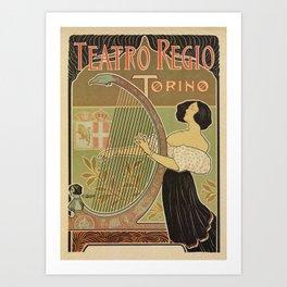 Art nouveau Royal Opera House Turin Torino Art Print