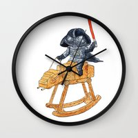 darth Wall Clocks featuring Darth Vader by gunberk