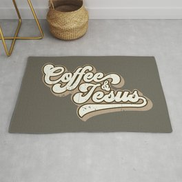 Coffee and Jesus Rug