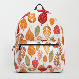 Painted Autumn Leaves Pattern Backpack
