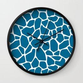 Blue stones pool Wall Clock