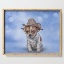 Drawing Puppy Chihuahua Serving Tray