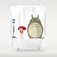 ghibli Shower Curtains featuring Studio Ghibli by adovemore