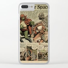 FROM OUTER SPACE Clear iPhone Case