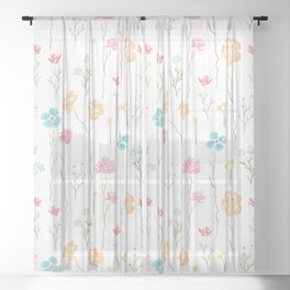 Wildflower Field Sheer Curtain