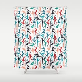 TANSI Colourful dancers pattern Shower Curtain