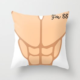 Six Pack I'm 88th Birthday Funny Men Throw Pillow