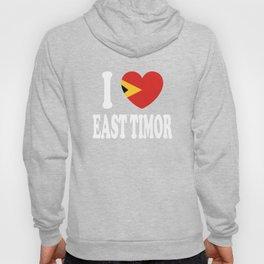 I Love East Timor Hoody