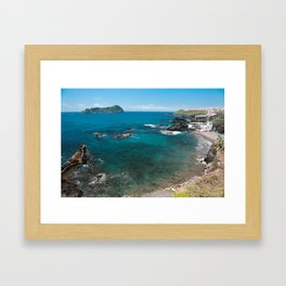 Small bay and islet Framed Art Print