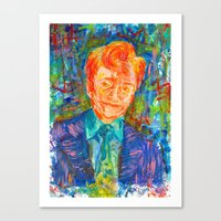 conan Canvas Prints featuring Conan O'Brien by Abby Lauren Edwards