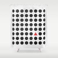 minimalism Shower Curtains featuring Minimalism 2 by Mareike Böhmer