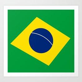 Team Brazil #brasil #selecao #bresil #brazil #russia #football #worldcup #soccer #fan #worldcup2018 Art Print