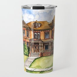 Victorian Mansion in the Spring Travel Mug