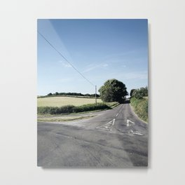 junction in the countryside Metal Print