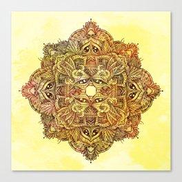 Botanical BioMorph Mandala 2 Canvas Print