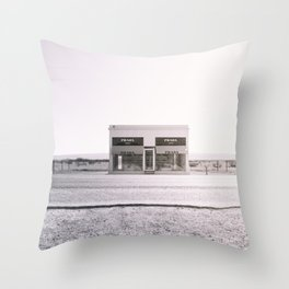 PradaMarfa - Black and White Version Throw Pillow
