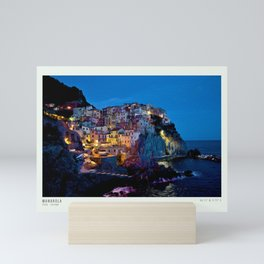 Manarola in impressionist Mini Art Print