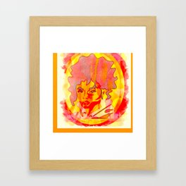 peach Rings candy Portrait of INDIA LOVE Framed Art Print