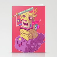 finn and jake Stationery Cards featuring Finn and Jake by Mike Wrobel