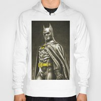 1989 Hoodies featuring BAT-MAN 1989 by Bungle