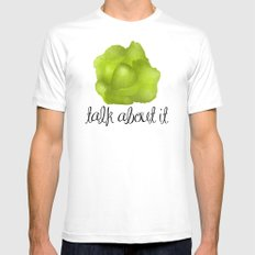 Lettuce Talk About It Mens Fitted Tee White MEDIUM