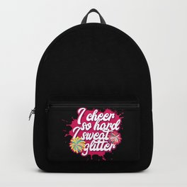 Funny Cheerleading Coach Girl Teen Cheer Squat Cheerleader Pink Pompom Fun Humor Girly Gift Idea Backpack