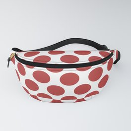 CVPA20032 Large Polka Dots Firebrick Red White Fanny Pack