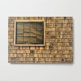 Window and cedar wall Metal Print