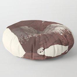 Winter Finds the Bear... Floor Pillow