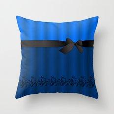 Blue Chiffon Dress Throw Pillow