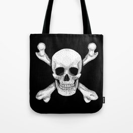 Jolly Roger - Deaths Head Pirate Skull Charge Tote Bag