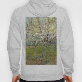 Orchard with Blossoming Apricot Trees by Vincent van Gogh Hoody